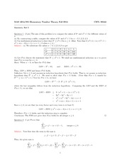 Homework 1 Solutions on Elementary Number Theory