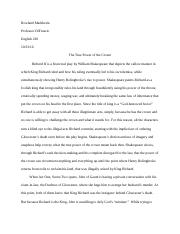 Richard II essay