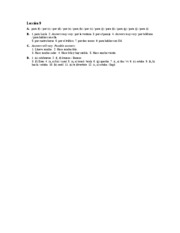 Â¡Hola, amigos! Workbook Answer Key Lec.9 A-D