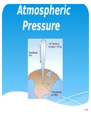 Lecture 4 Pressure in Atmosphere