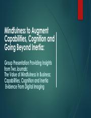Mindfulness to Augment Capabilities, Cognition and Going.pdf