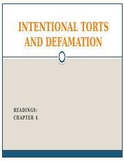 lecture on intentional torts