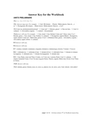 ITAL 011 Parliamo Italiano Workbook Answers