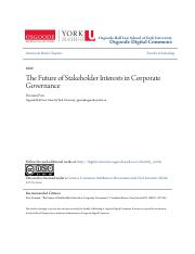 The Future of Stakeholder Interests in Corporate Governance.pdf