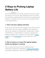 6 Ways to Prolong Laptop Battery Life.docx