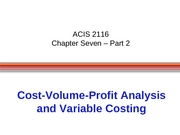 ACIS 2116 Chapter 7 Part 2