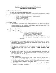 05 Interest Rates and Bonds Concepts and Problems.docx
