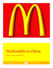 mcdonald assignment