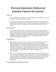 The Great Depression-Politocal and Economic Causes in the America.docx