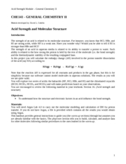 Acid Strength Answers
