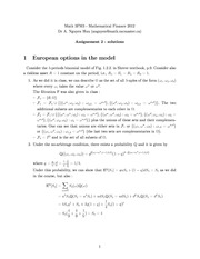 MATH 3FM3 Fall 2013 Assignment 2 Solutions