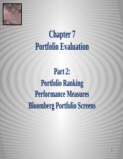 Equity Chapter 07 Part 2 Portfolio Evaluation_Ranking_Performance_Bloomberg  2014 sj