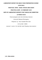 3) LABORATORY REPORT 3 FOR BASIC FOOD PREPARATION COURSE