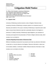 is3350 document retention policy litigation hold Document retention and destruction policy final project premier   is3350 security issues in a legal context monday, 26 may, 2014 2  [it state  its policy on archive digital records here] 43 litigation hold a.