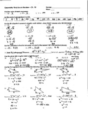 Chapter 10 Final Exam Review Answer Key
