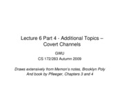 CS283 - Lecture 6 - Part 4 - Additional Topics - Covert Channels
