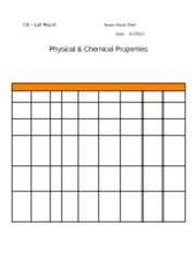 physical and chemical properties lab Ch100: fundamentals for chemistry 1 instructor: tony zable name:_____ experiment: physical and chemical properties and changes.