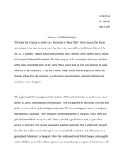 Akron vs UAB Analysis Paper