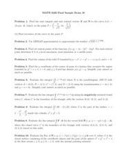 Calc III-- Final exam sample 10