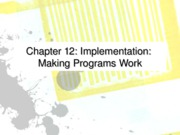 Ch 12 implementation