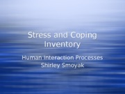 Stress and Coping Inventory