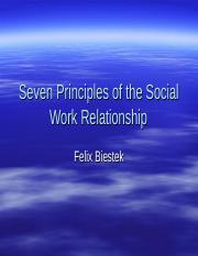 Seven Principles of the Social Work Relationship.ppt