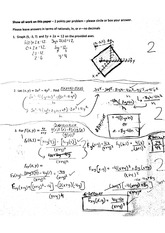 Partial Integrals and Derivatives worksheet 2