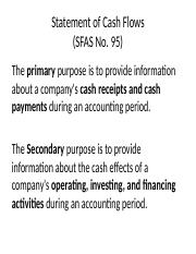 Chapter 4 - Statement of Cash Flows