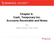 Lecture 7 Cash and Receivables