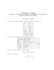 Math 198_Exam Solutions on Methods of Ordinary Differential Equations