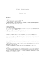 Solutions hw1