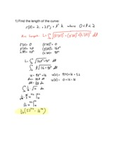 Hw11 13.3 Arc Length and Curvature