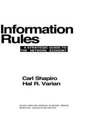 information-rules VARIAN SHAPIRO