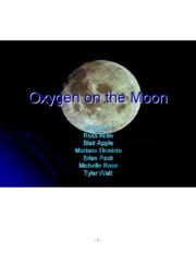 Oxygen Production in the Moon-Extended Summary