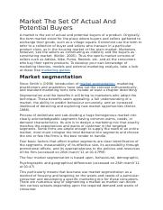 Market The Set Of Actual And Potential Buyers.docx