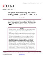 Adaptive Beamforming for Radar_ Floating-Point QRD+WBS in an FPGA (WP452).pdf