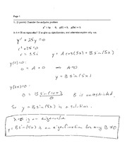 Exam 3 Solution Fall 2004 on Ordinary Differential Equations