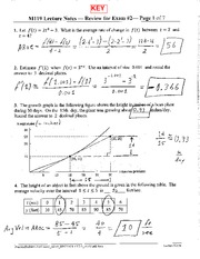 Practice Problems For Exam 2 Key