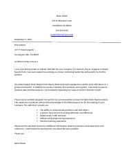 dp comm 3300 unit 1 cover letter