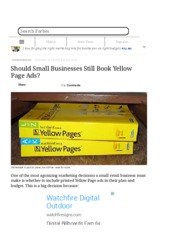 Should Small Businesses Still Book Yellow Page Ads - Forbes