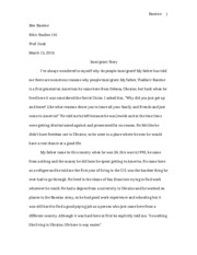 Immigrant Story Paper 2
