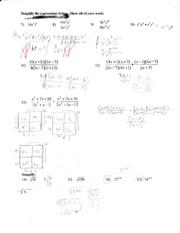 Printables Factoring Review Worksheet factoring review worksheet davezan collection of answers bloggakuten