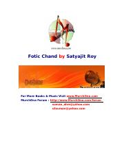 Fotic Chand by Satyajit Roy
