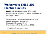 ENEE205 Fall2013 Lecture6 Gomez