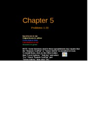 FCF 9th edition Chapter 05
