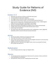 Study Guide for Patterns of Evidence DVD.docx