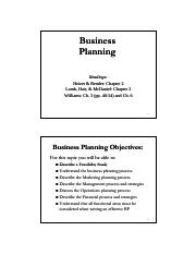 Business Planning Intro