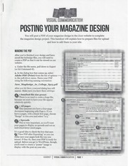 Posting Your Magazine Design