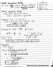 notes on quotent rule