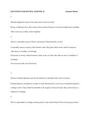 QUESTIONS FOR REVIEW CHAPTER 16                                               Amanda Minner.docx